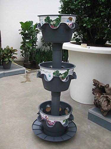 Lechuza Cascada Color 3-er Turm Schiefergrau matt All-in-One Set Komplettset