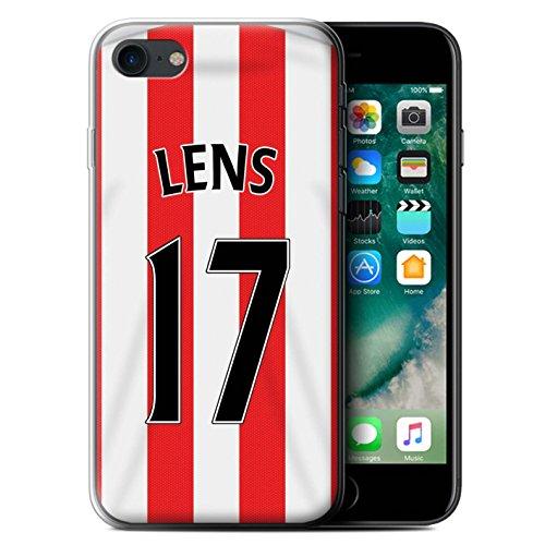 Offiziell Sunderland AFC Hülle / Gel TPU Case für Apple iPhone 7 / Matthews Muster / SAFC Trikot Home 15/16 Kollektion Lens