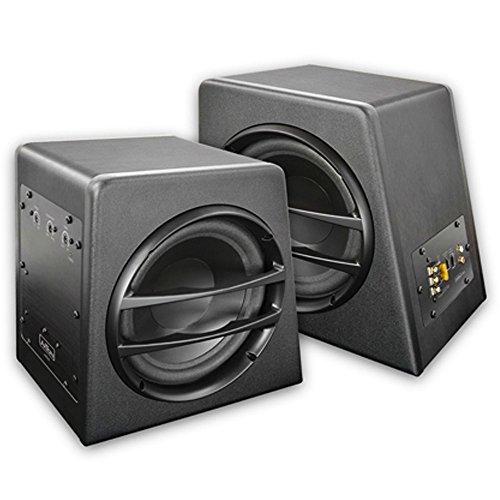 AXTON AXB20A Aktivsubwoofer Box Woofer mit Verstärker Basskiste Subwoofer 2x 20cm