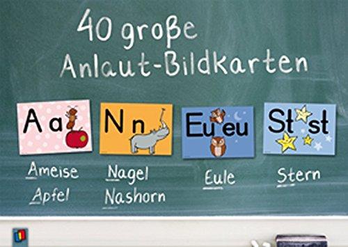 40 große Anlaut-Bildkarten: für Kita und Grundschule -