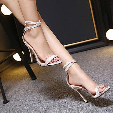 LvYuan Da donna-Sandali-Formale-Club Shoes-A stiletto-PU (Poliuretano)-Nero Tessuto almond almond