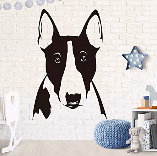 Knncch Nette Dog Bull Terrier Porträt Wandaufkleber Abnehmbare Vinyl Tier Aufkleber Für Kinderzimmer Sofa Hintergrund Wohnkultur
