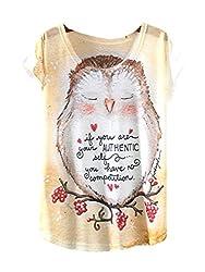 YICHUN Women Girls Thin Summer T-Shirt Leisure Tops Tees Casual Wear Tunic Blouse