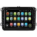 8 pulgadas Coche Radio con GPS Quad Core Android 5.1.1 Lollipop para VW Magotan Scirocco Amarok Caddy Passat Sagitar Golf Tiguan Touran Jetta Skoda Seat CC Polo(2006-2012),16G Flash 1G RAM 1024x600 GPS DVD