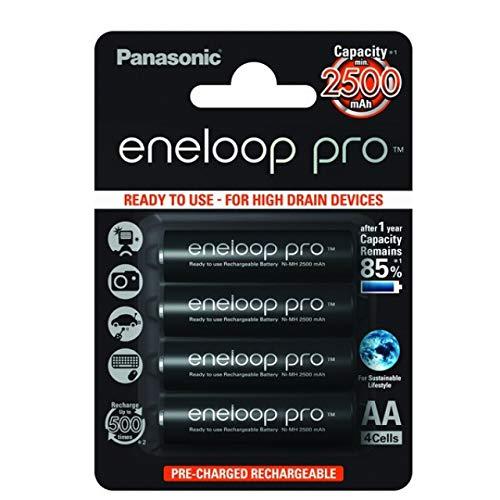 Lot de 4 piles Panasonic eneloop Pro 2450mAh
