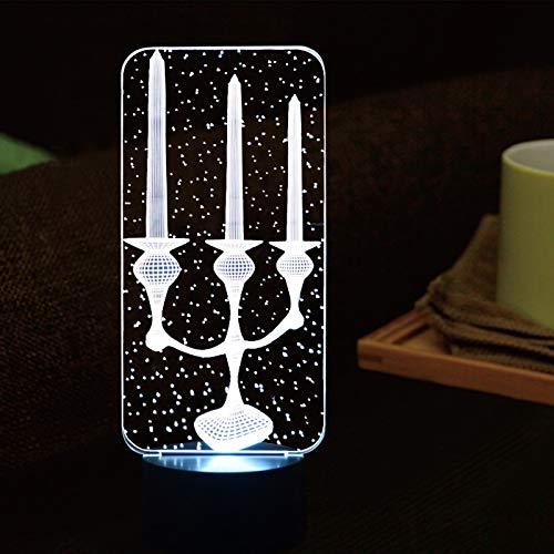 YDBDB Nachtlicht 3d led leuchte kerzenhalter geformt 7 farben ändern atmosphäre kinder touch button schreibtischlampe wohnkultur