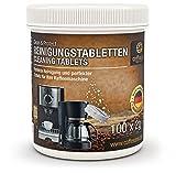 Coffeeano 100 Reinigungstabletten für Kaffeevollautomaten und Kaffeemaschinen | Inkl. gratis eBook | Reinigungstabs kompatibel mit Jura, Siemens, Krups, Bosch, Miele, Melitta, WMF uvm.