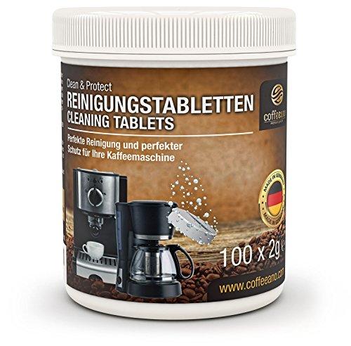 Coffeeano 100 Reinigungstabletten für Kaffeevollautomaten und Kaffeemaschinen | Inkl. gratis eBook...