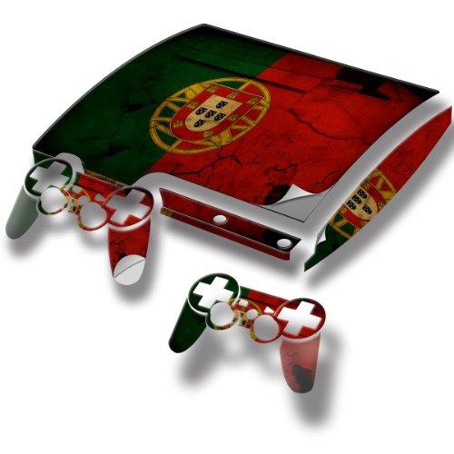 Ländern, Designfolie Sticker Skin Aufkleber Schutzfolie mit Farbenfrohem Design für PlayStation 3 Slim (Gta 6 Für Playstation 3)