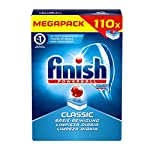 Acabado Calgonit Classic, pastillas para lavavajillas, Mega Pack, 110Tabs