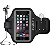 iPhone 7 / 8 / 6 Plus Armband, JEMACHE ID Touch Supported Gym Jog/Run Workout Arm Band Case for iPhone 6/6S/7/8 Plus (Black)