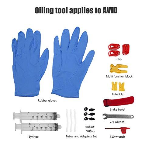 Alomejor Kit di Scarico del Freno Kit Idraulico del Disco Minerale per Freni e Olio Minerale per AVID - Fluido Non Inclus