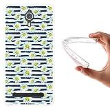 WoowCase Coolpad Porto S Hülle, Handyhülle Silikon für [ Coolpad Porto S ] Aquarell- Blumen und Streifen Handytasche Handy Cover Case Schutzhülle Flexible TPU - Transparent