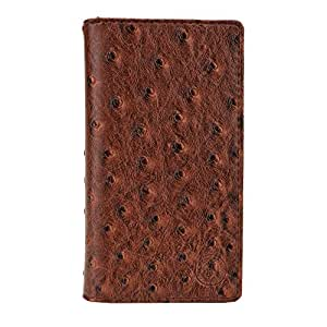 Jo Jo Cover Croc Series Leather Pouch Flip Case For Celkon Campus A418 Light Brown