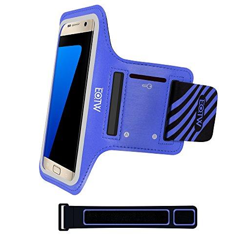 EOTW Sportarmband Handyhülle universell Passend für Samsung Galaxy S7/S6/S5, Ideal für Sport, Freizeit aber Auch in der Arbeit praktisch zu Verwenden (5,1 Zoll, Blau) - Fall Razr Motorola