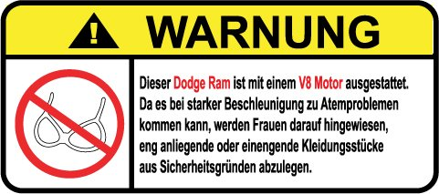 dodge-ram-v8-motor-german-lustig-warnung-aufkleber-decal-sticker