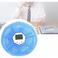 SODIAL Woechentliche digitale Timer Runde 7 Tage LED Pill Box Fall Wecker Erinnerung Medizin preisvergleich bei billige-tabletten.eu