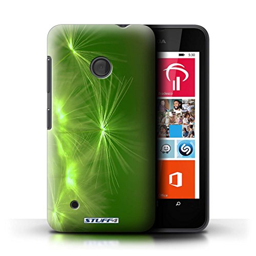 Kobalt® Imprimé Etui / Coque pour Nokia Lumia 530 / Jaune conception / Série Allumez la vie Vert