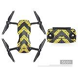Qiyun Autocollants Drone, Pro Sticker Imperméable, déco Sticker Decal Skin Wrap Coque Kit Corps de la Peau pour Drone DJI Mavic Air, 2