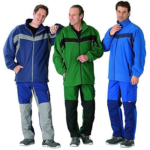 Plaline Arbeitskleidung Fleece Jacke rot/schiefer grün/schwarz