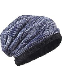 16cb02fb0f9 VECRY Men Knit Beanie Hat Thick Fleece Lined Winter Skull Cap B5050  (Multi-Navy