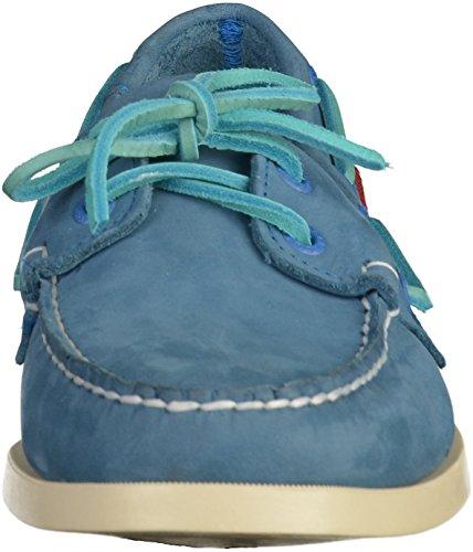 Sebago Men's Men's Docksides Blue Nubuck Leather Shoes Leather Blue