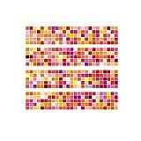 Adhesivo para azulejos de Pared Cocina Pegatinas de Vinilo Art Wall Decal Home Decor-Sencillo Vida, Patrón de Mosaic matching