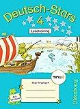 Deutsch-Stars - TING-Ausgabe: 4. Schuljahr - Lesetraining: Übungsheft. Mit Lösungen