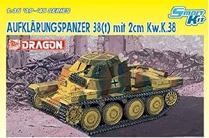 Dickie-Tamiya Dragon 500776294 - Maqueta de Tanque de Juguete 38 t con cañón de 2 cm (Escala 1:35)