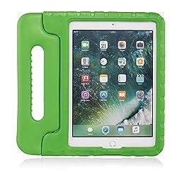 "Brand.it Learn.it - Kinder iPad Hülle, stoßfest I für Apple iPad Air 2/Air 1/9,7"" 2017/2018 (5. / 6. Generation) I aus Eva-Schaum, kindersicher und robust I Kinderschutzhülle grün"
