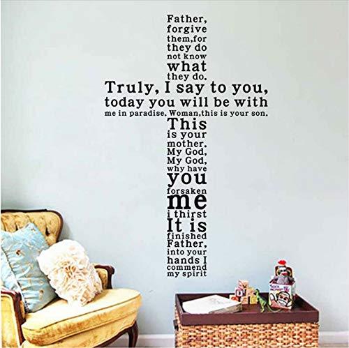 Jesus Christus Wirklich Ich sage Ihnen Englisch Text Abnehmbare Vinyl Wandaufkleber Abziehbilder Living Home Decor Kirche Wand Kunst Dekor