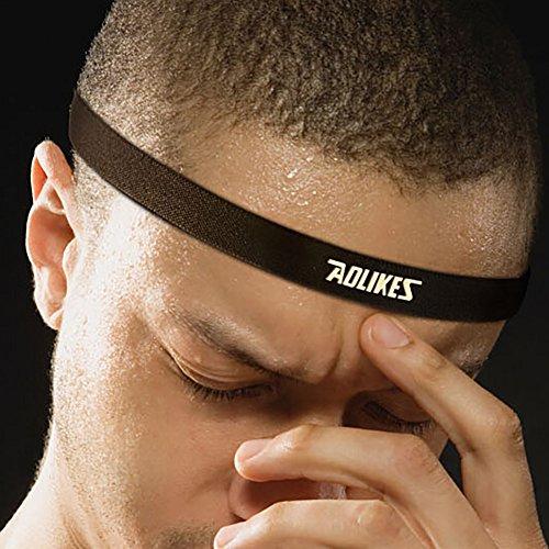 Doubleer Laufen Yoga Sport Schweißbänder Stirnband Fitnessstudio Fitness Anti Schweiß Führen Band 9 Farben