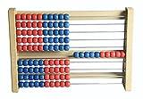 Wissner aktiv lernen Schüler-Rechenrahmen aus biologischem RE-Wood  -- Made in Germany -- Professioneller Schülerrahmen, von Lehrern empfohlen: mit sich nicht überlappenden Kugeln: die richtige Hilfe beim Rechnen lernen!