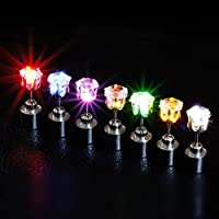 2win2buy 9 Pairs Men Women Light Up LED Earrings Ear Studs XMAS Dance Party Club Decoration