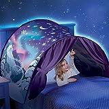 Jeteven Winter Tunnel bett Zelt für Babybett Kinderbett Kinderbett Hochbett Rutschbett Weihnachten Traumzelt, Sternenhimmel