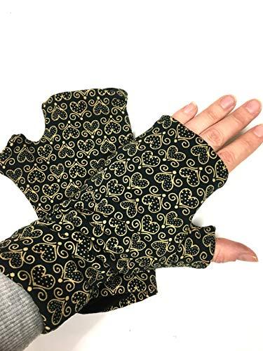 Stulpe Stulpen Herzen Gold Geschenk Weihnachten Handschuhe