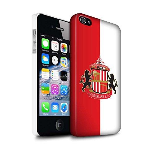 Offiziell Sunderland AFC Hülle / Matte Snap-On Case für Apple iPhone 4/4S / Pack 6pcs Muster / SAFC Fußball Crest Kollektion Rot/Weiß