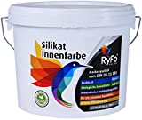 RyFo Colors Silikat Innenfarbe 6l - Mineral-Farbe, Silikatfarbe, Wandfarbe, weiß, Allergiker-geeignet, zertifiziert Deckkraft Klasse 1, Nassabrieb Klasse 1