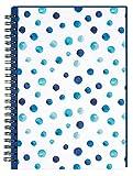 moses. 80839 Ringbuch Blue Dots, Notizbuch mit Ringbindung, 80 Seiten, liniert