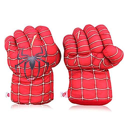 2 (Pcs) Kinder Spinnen Boxen Spielzeug Handschuhe Plüsch Hulk Handschuhe Hulk Kind Geburtstag Weihnachten Spielzeug Halloween Geschenk 11 (In),Red