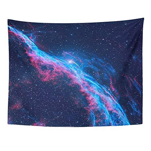 AOCCK Wandteppiche Wall Hanging The Witch's Broom Nebula Veil is Cloud of Heated and Ionized Gas and Dust 60