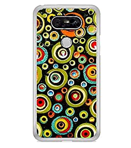 Printvisa Colourful Circular Pattern 2D Hard Polycarbonate Designer Back Case Cover For Lg G5 :: Lg G5 Dual H860N :: Lg G5 Speed H858 H850 Vs987 H820 Ls992 H830 Us992