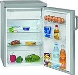 Bomann KS 2194 Kühlschrank mit 4-Sterne-Gefrierfach, A+++, 84,5 cm, 94 kWh/Jahr, 105 L Kühlteil, silber