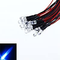 Alitove 20pcs 5mm 12V Blue LED Pre Wired Prewired 20cm Bulb Lamp For DIY Car Boat Toys Flashing Party lighting project Blue