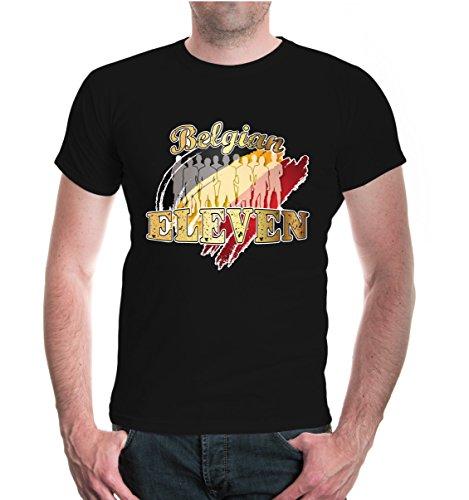 buXsbaum® T-Shirt Belgian Eleven Black-z-direct