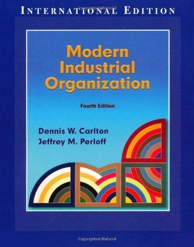 Modern Industrial Organization (Pie) by Carlton. Dennis W. ( 2003 ) Paperback