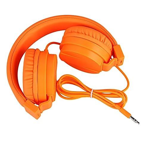 Cewaal Wired Casque Audio Micro-casques pliables MP3 Téléphone Mobile
