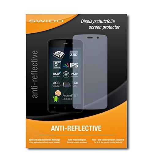 SWIDO Schutzfolie für Allview P6 Lite [2 Stück] Anti-Reflex MATT Entspiegelnd, Hoher Härtegrad, Schutz vor Kratzer/Displayschutz, Displayschutzfolie, Panzerglas-Folie