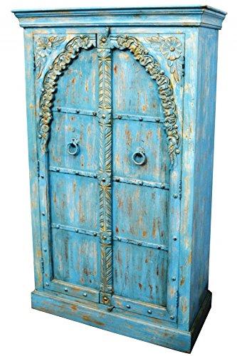 Orientalischer kleiner Schrank Kleiderschrank Baya 160cm hoch | Marokkanischer Vintage Dielenschrank...