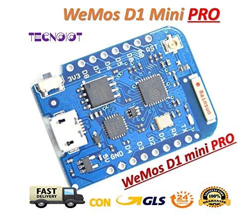 WEMOS D1 mini Pro - 16M bytes external antenna connector ESP8266 WIFI Board |WEMOS D1 mini Pro - connecteur d'antenne externe Carte ESP8266 WIFI D1 Mini